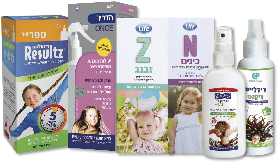מגוון מוצרים למניעה וטיפול בכינים